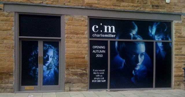 hairdresser opening soon message hoarding
