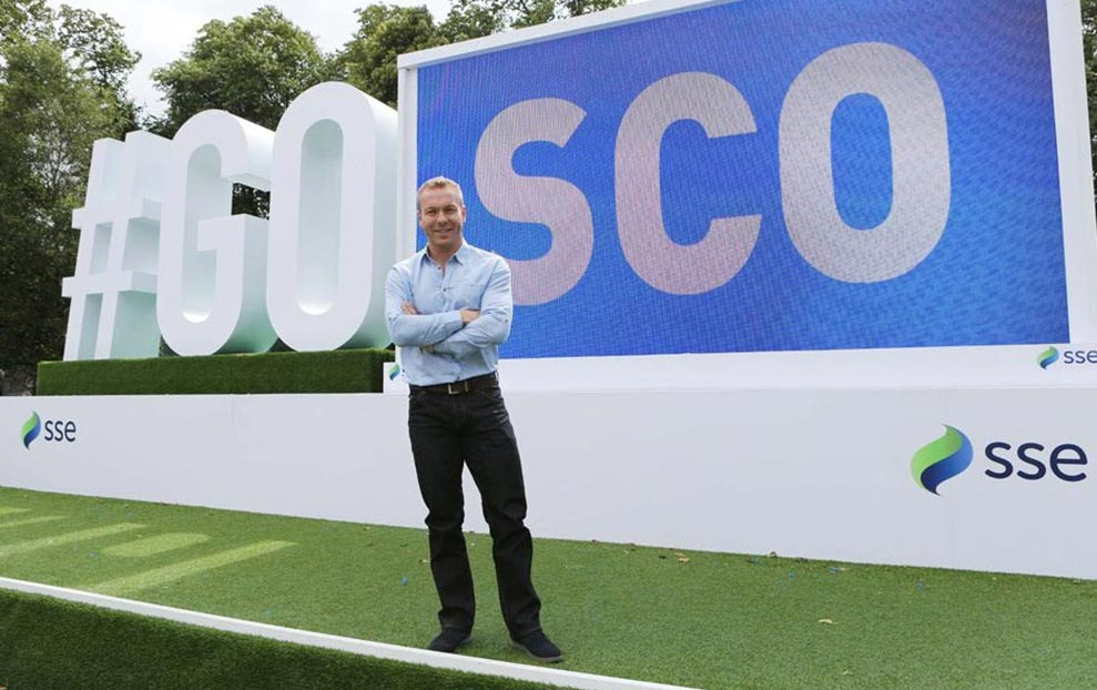 #gosco sign for the commonwealth games with sir chris hoy in the forefront