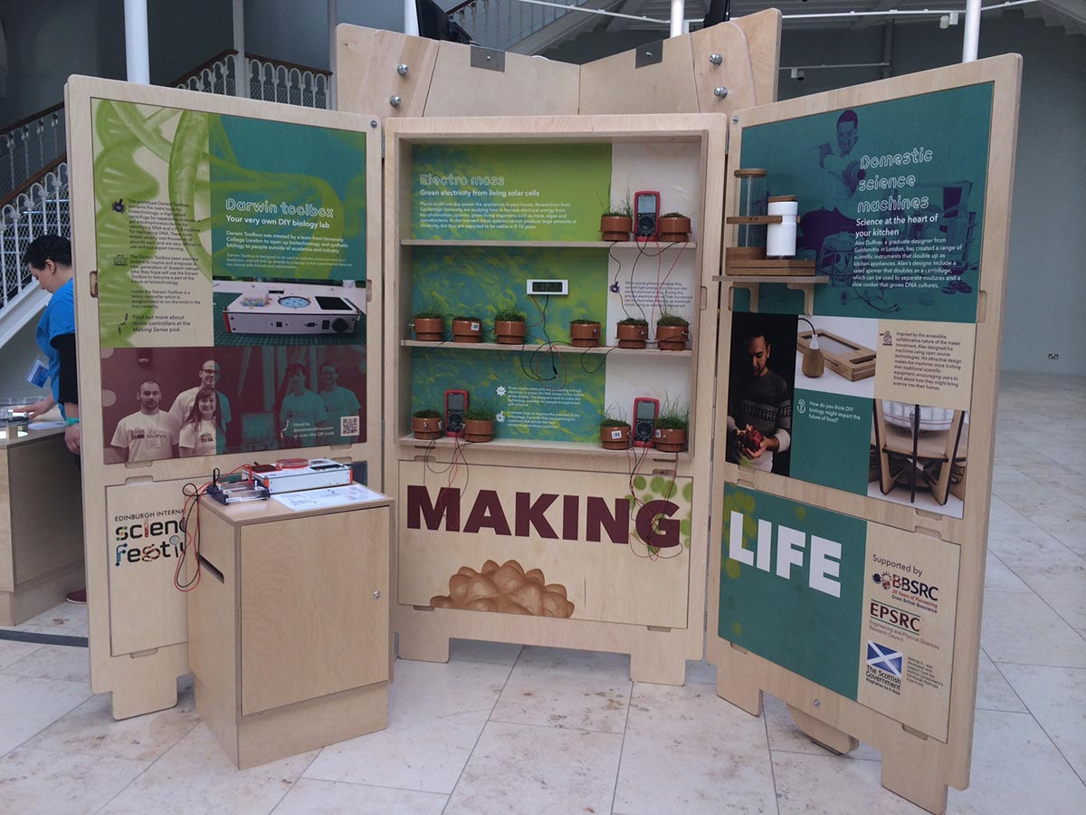 science festival exhibition stand - DIY lab - domestic machines
