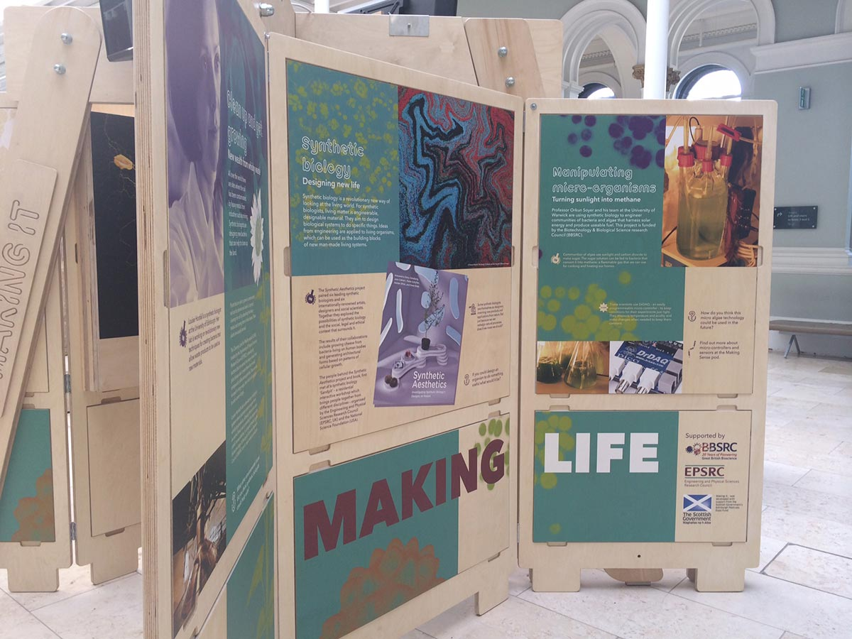 science exhibition - making life information