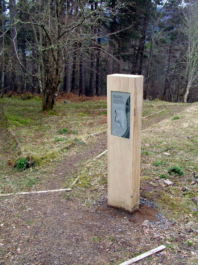 information sign in the woods