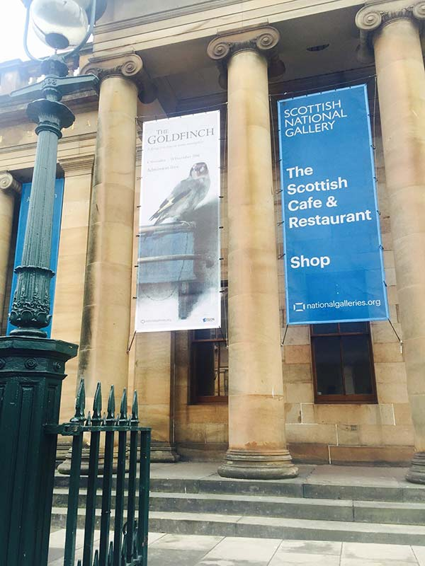 banner outside the national gallery