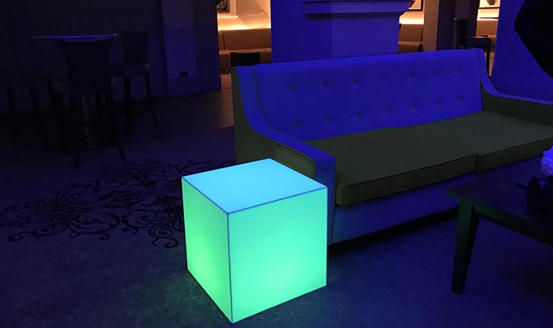 a cube all lit up