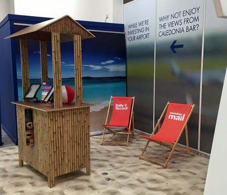 daily record deck chairs and beach hut