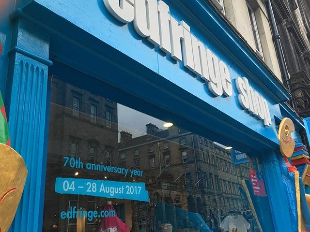 edinburgh fringe shop front
