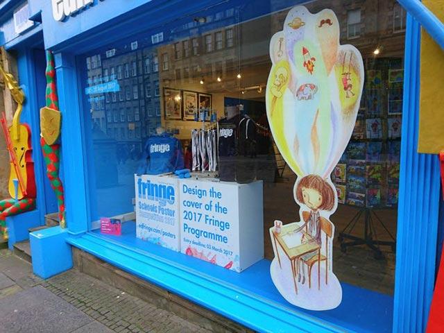 edinburgh fringe shop with creative designs