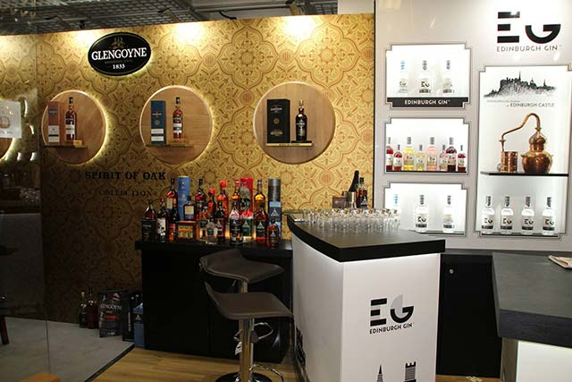 gin display for the TFWA World Exhibition in cannes