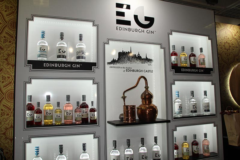 edinburgh gin distillery display