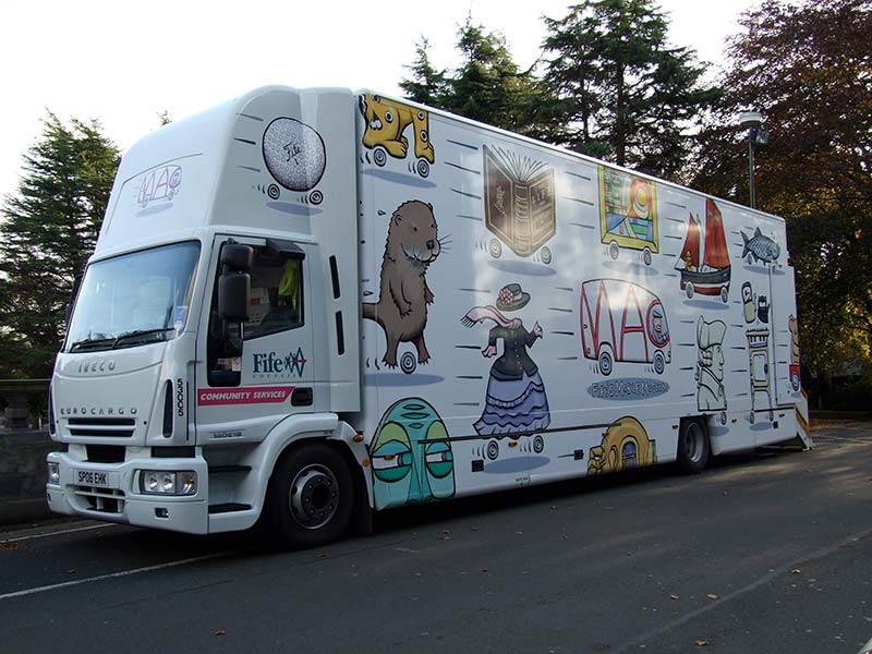 side of fife council truck with new livery