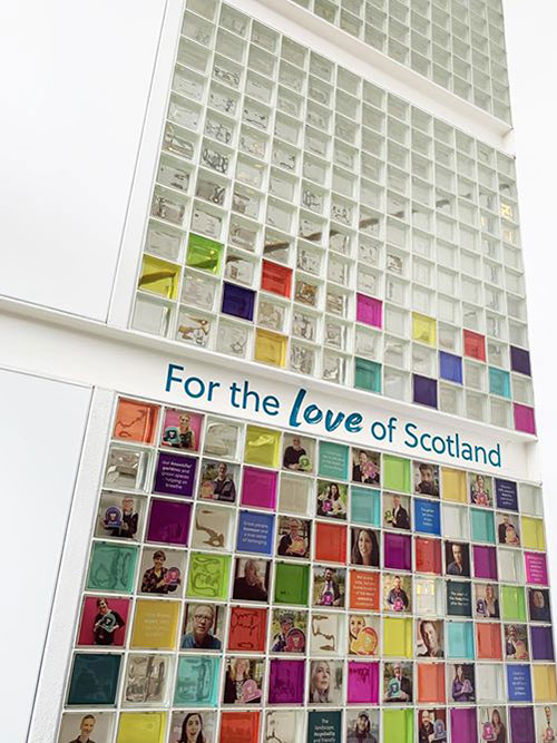 for the love of scotland message glass graphics