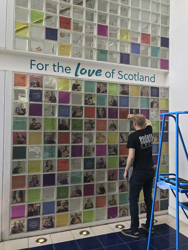 for the love of scotland exhibition installation