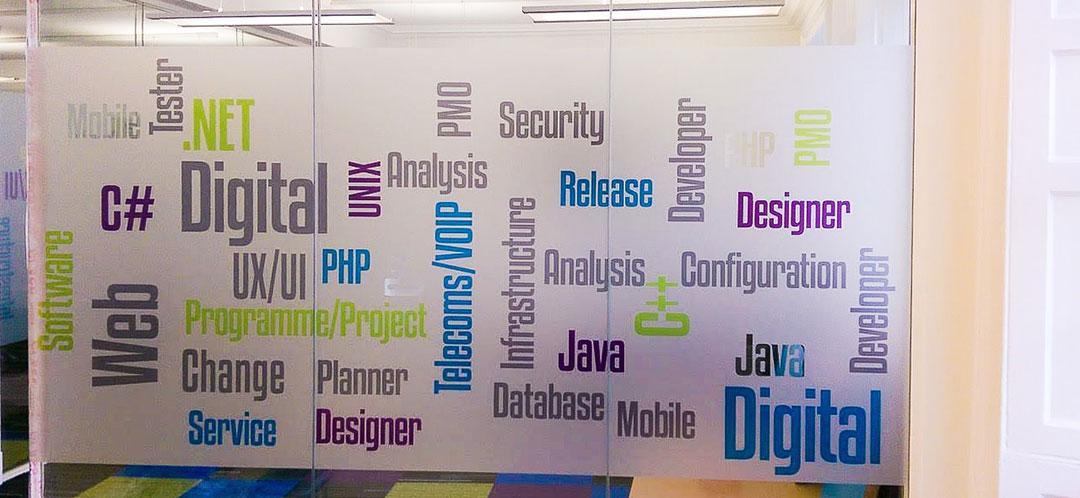 window graphic with various digital marketing keywords