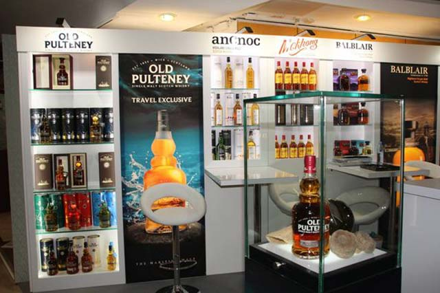 whisky display for the TFWA World Exhibition in cannes