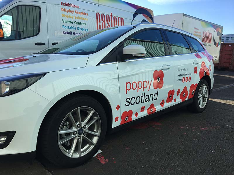side of poppy scotland with with new livery
