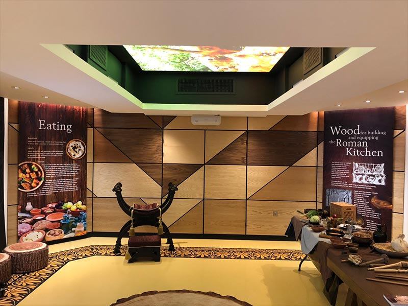 roman kitchen museum display
