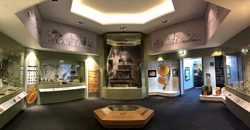 roman museum display units