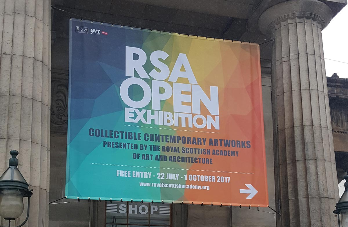 banner for the royal Scottish academy