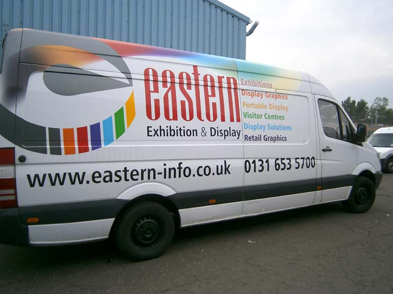 side of eastern van with new livery