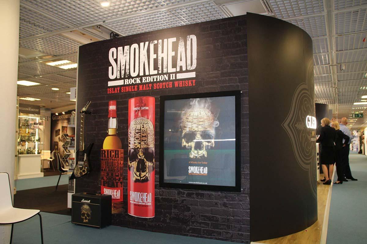 whisky display for smokehead single malt