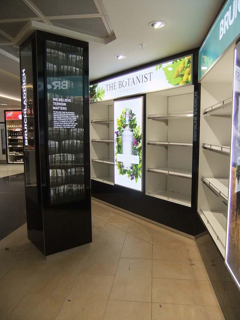 empty display cases