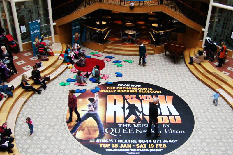 we will rock you the musical floor graphic