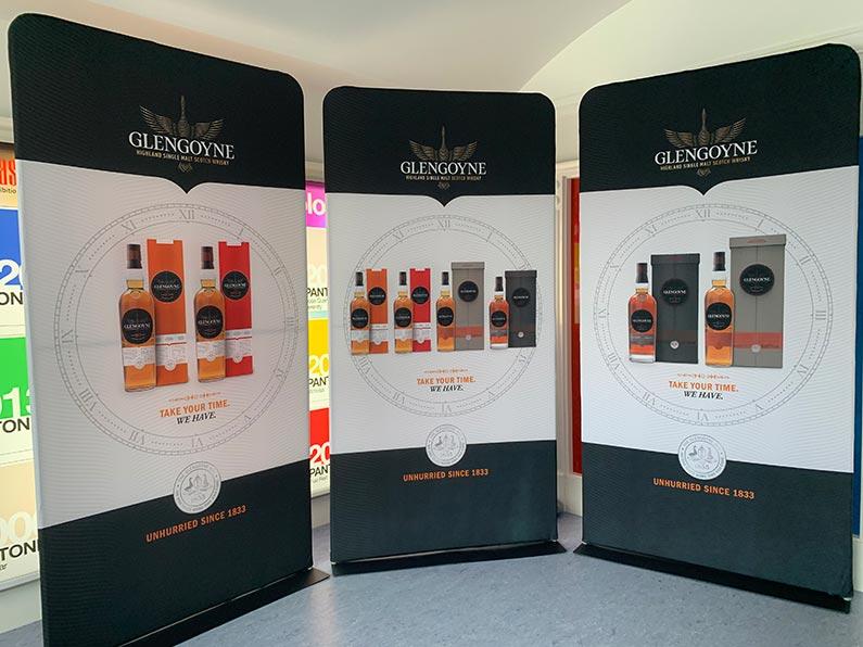 glengoyne distillery fabric graphics