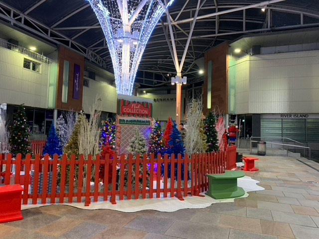 christmas display in shopping centre