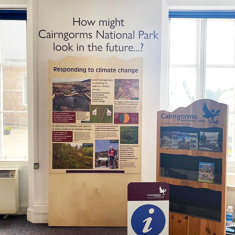 information display for the cairngorms national park