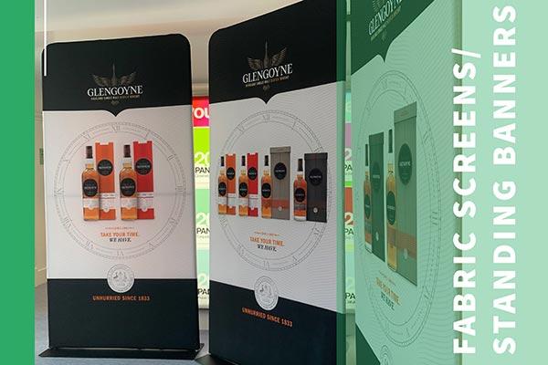 glengoyne whisky fabric screen standing banner