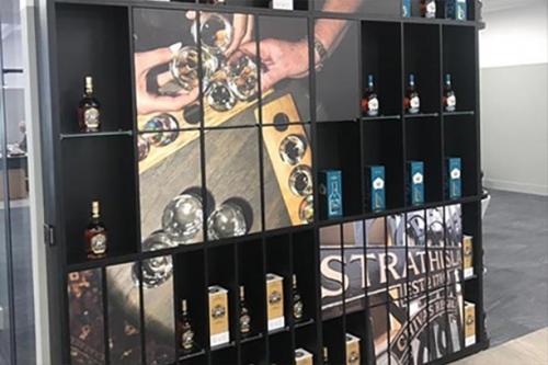 strathisla whisky display